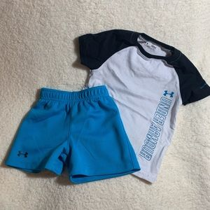 Boy's Under Armour Shirts and Shorts Set 18m